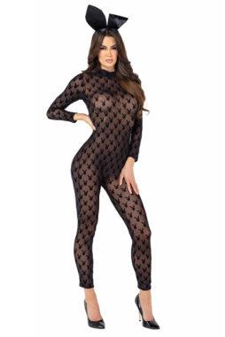 Sheer Playboy Bunny Bodysuit